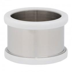 Basisring 12mm, keramiek wit