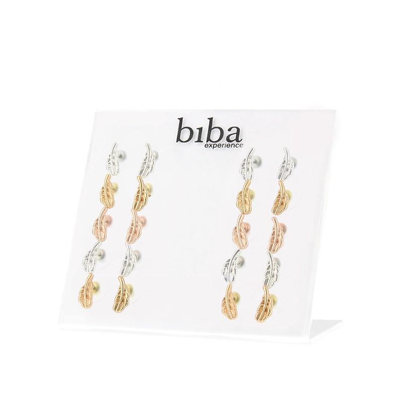 BIBA veertjes ; roségoud - zilver - goud