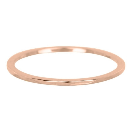Ring wave rosé goud
