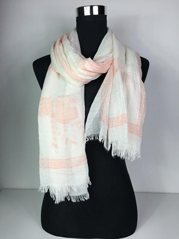 Sjaal off white / roze