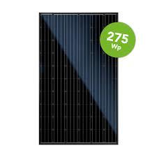 6 stuks Canadian solar 275WP zwarte zonnepanelen incl. clickfit montage systeem en Omnik omvormer