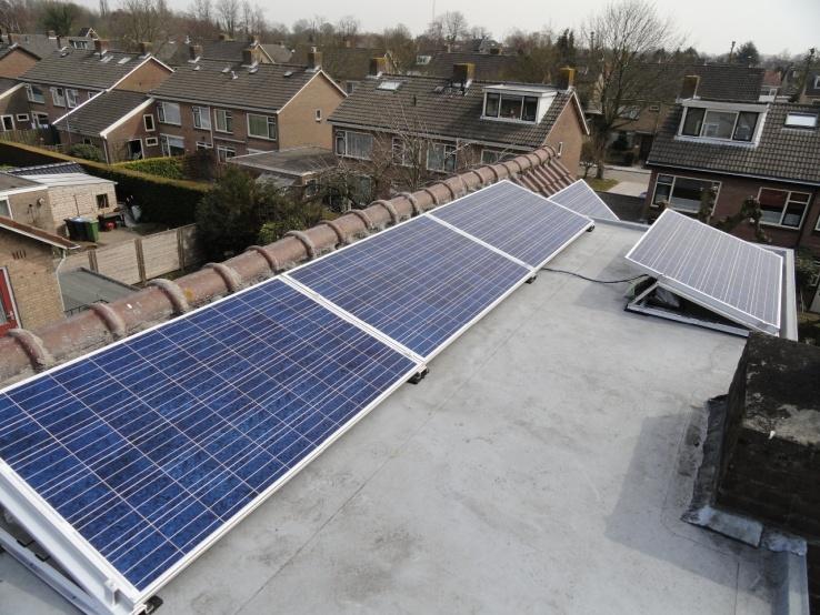 zonnepanelen platdak Geldermalsen