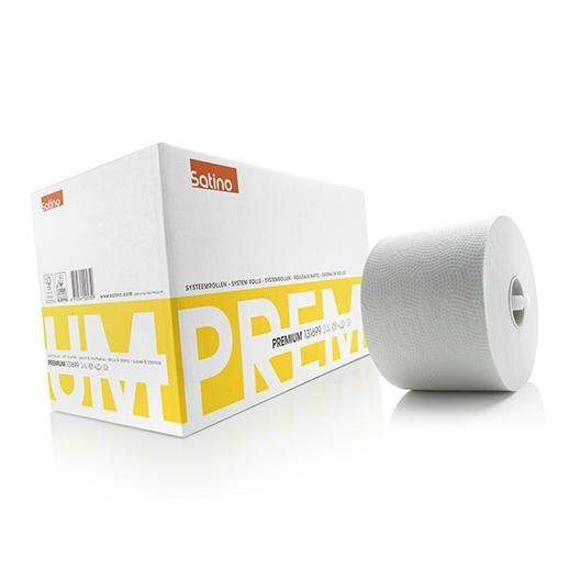 Toiletpapier 2-laags systeemrollen