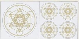 Metatron stickerset goud-zilver kleurig (niet krasvast)