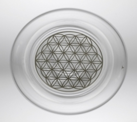 Drinkglas Flower of Life platina 250ml