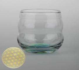 Drinkglas Flower of Life goud 250ml