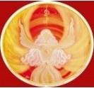 Raamsticker genezing engel vuur energie