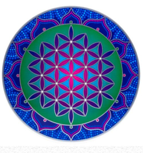 Raamsticker Flower of Life  13,5cm doorsnede