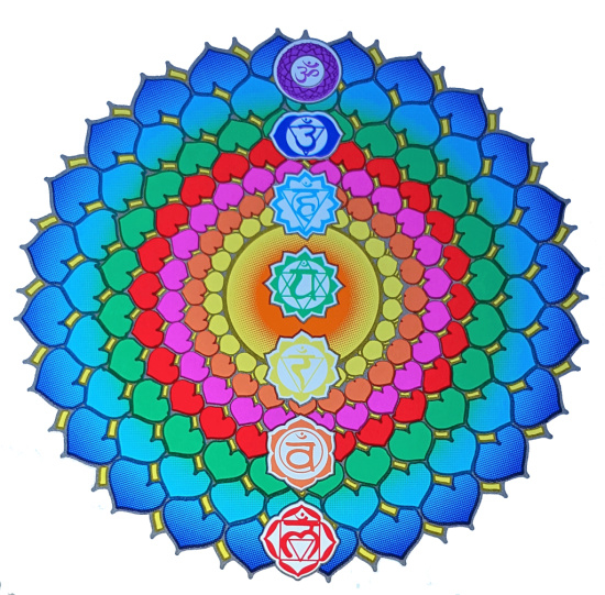 Raamsticker Chakra Healing 14 cm