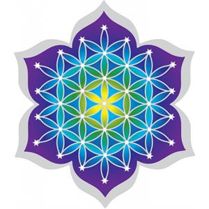 Raamsticker Flower of Life  12cm