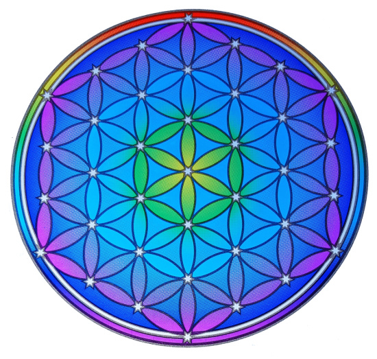 Raamsticker Flower of Life 14cm