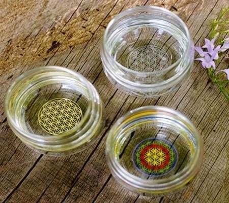 Drinkglas Flower of Life wit 250ml