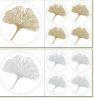 Gringko blad stickerset goud-zilver kleurig (niet krasvast)