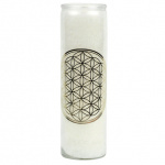 Flower of Life geurkaars stearine in glas
