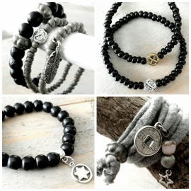 ARMBAND | GRIJS | INFINITY | STER | LOVE