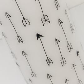Witte stompkaars 'pijlen'