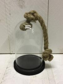 Glazen stolp, zwart