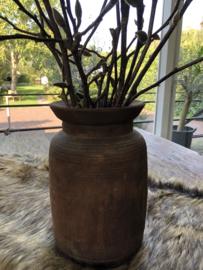 Mooie oud houten kruik