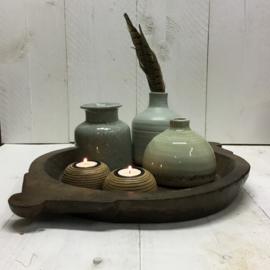 Houten Nepalese schaal