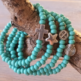 ARMBAND | TURQUOISE | ZILVER