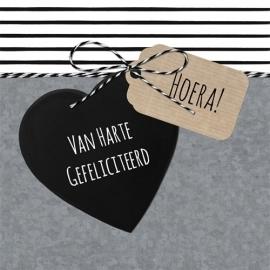 VAN HARTE GEFELICITEERD | ZWART HART