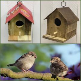 Unieke vogelhuisjes