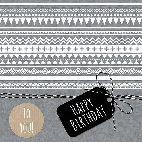 HAPPY BIRTHDAY   ZINK AZTEC