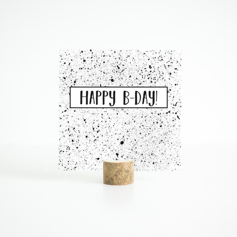 kaart - happy b-day