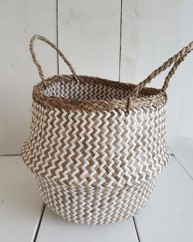 Basket wit zeegras
