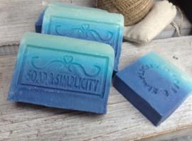 Blauwe zee zeep