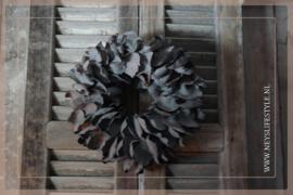 Krans palm petal   grey   30 cm