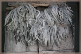 Schapenvacht aan stok | grijs