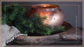 Windlicht bowl Lara | gold