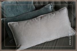 Velvet kussen washed Pip 30 x 60 cm | rose