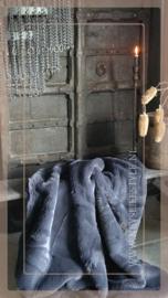 Luxe bont plaid 155 x 130 cm | donkergrijs