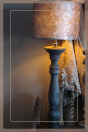 Lampen kap | velvet croco grey