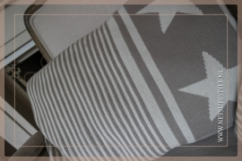 Kussen Stars & Stripes brown