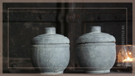 Candle cup set   grey