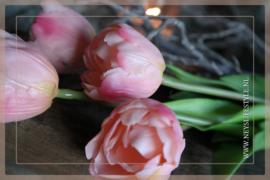 Tulp in bloei kunst 43 cm | roze