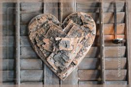 Krans hart wood   30 cm