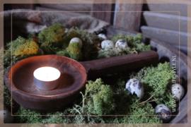 Oude houten lepel Raja | hout