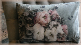 Kussen fluweel 40 x 60 cm | bloemen