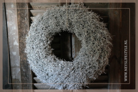 Krans Iron White glitter   60 cm