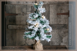 LED kunst kerstboom jute    60 cm