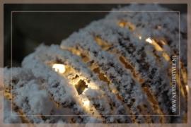 Kerstklok rotan snow | S