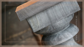 Balusterlamp hout grey | S