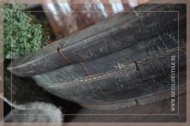 Oude houten ronde trog/bak | 1
