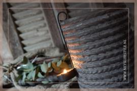 Hang kandelaar waxinelichtje zwart | mini