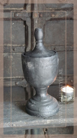 Bowl statue top touch  | black