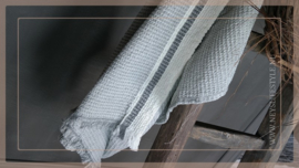 Plaid katoen streep | grijs